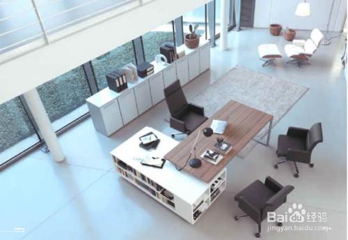 总经理室办公室家具设计配套方案图片