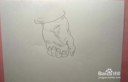 如何画速写弯曲的手掌