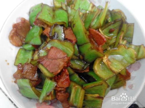 徽州家常青椒腊肉炒肉松吃了过期的风味怎么办图片