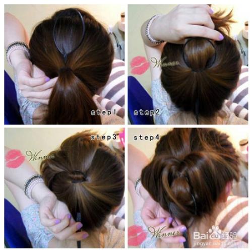 如何扎头发简单好看图片