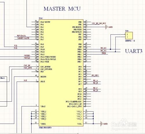 STM32单片机控制蓝牙的电路图片