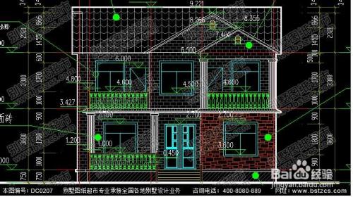 漂亮实用的二层农村小别墅效果图及施工图