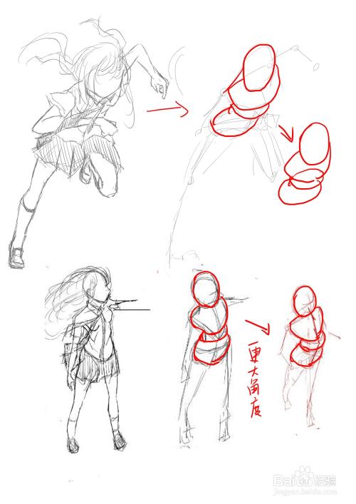 画画人体透视的简单方法图片