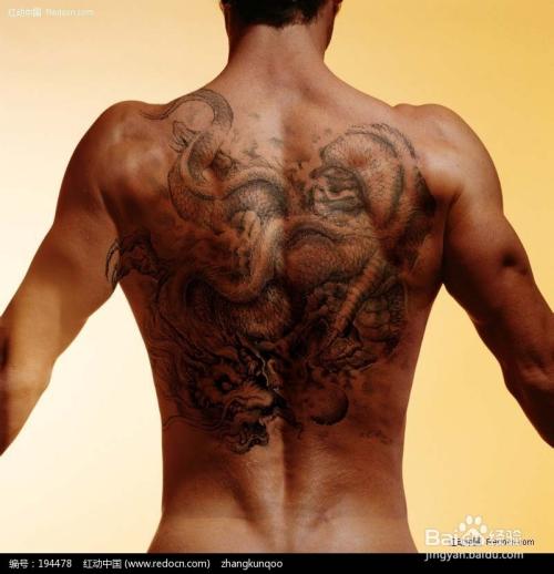 给人物背部添加纹身图片
