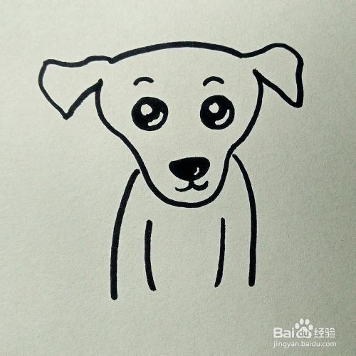 儿童简笔画 小狗的画法图片