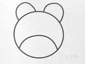 简笔画大全:[25]熊猫头的绘画过程图片