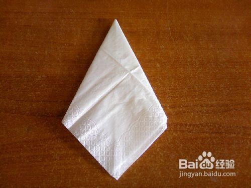 纸巾艺术——白天鹅的折法图片