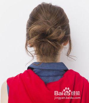 最简单的韩国包子头发型,易学图片