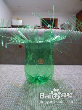 雪碧瓶子做花篮图片