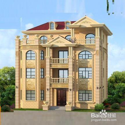 错层欧式三层半别墅施工图效果图别墅设计图纸图片