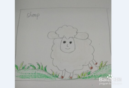 新年贺卡简笔画 快乐小羊