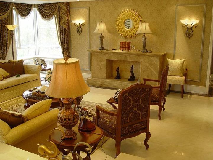大户型美式风格121平方米四室二厅家居卫生间装饰品浴室柜灯具装修图片