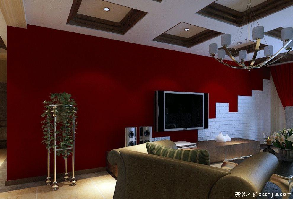 最新欧式风格客厅电视背景墙装修效果图大全_装修之家装修效果图图片