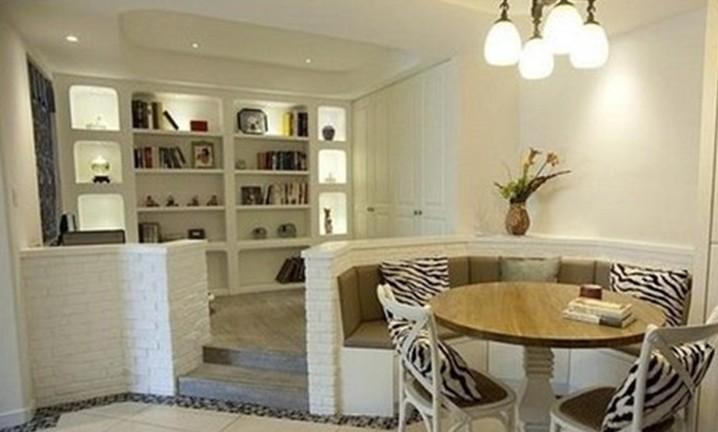 128平方米三房二厅美式风格大户型家居卫生间淋浴房灯具浴室柜装修图片