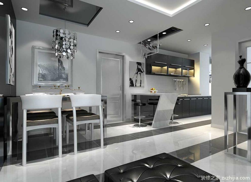 美式厨房吧台装修效果图_装修之家装修效果图
