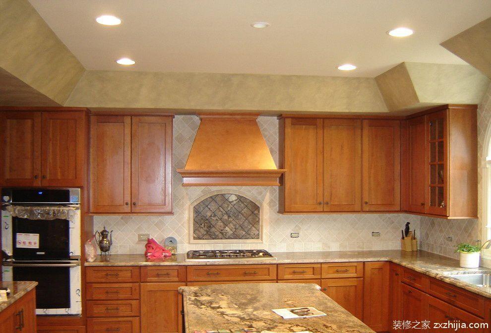 欧式整体厨房橱柜装修效果图_装修之家装修效果图图片
