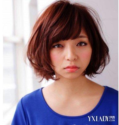 适合胖圆脸的发型女烫卷短发打造小脸图片