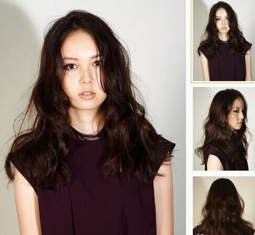 中长发烫发发型图片2014 改变发型就能走上女神范儿图片