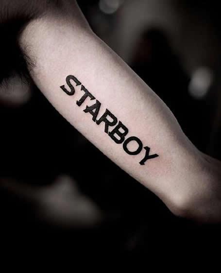 男生手臂纹身英文字母图案 手臂个性纹身图案男图片