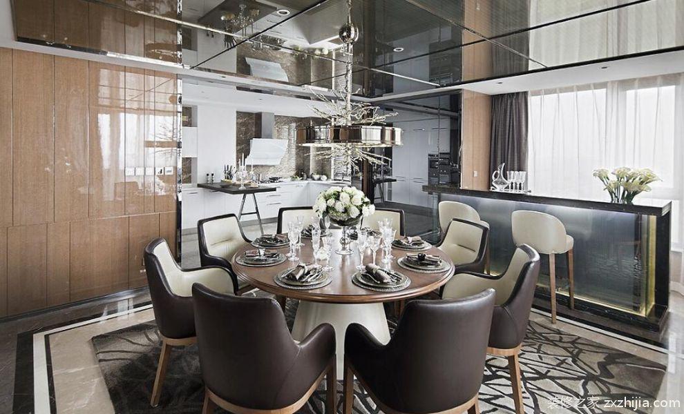 美式时尚家居餐厅效果图_装修之家装修效果图