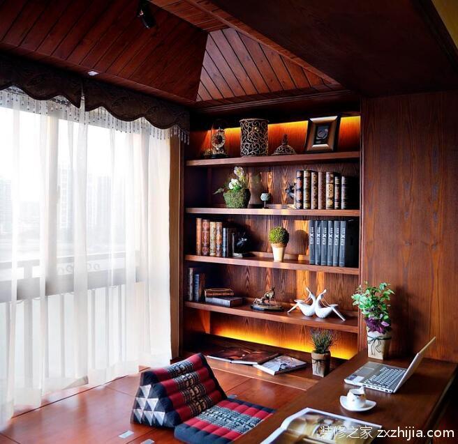 简约清新北欧风格书房隔断设计_装修之家装修效果图图片