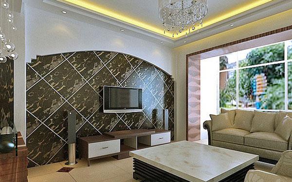 2012经典欧式电视背景墙装修效果图豪华大气无形中渗透出来图片