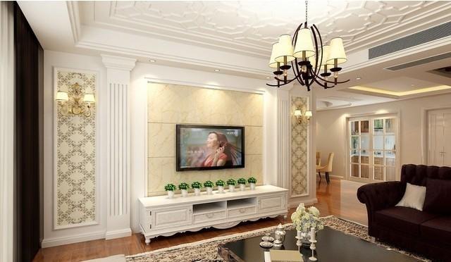 汇总:简欧风格客厅电视背景墙,雅俗共赏图片