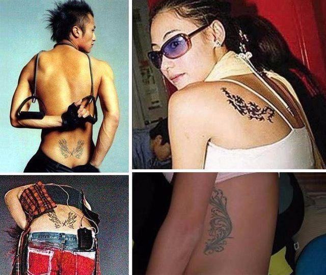 张柏芝腰上有纹身么分享展示图片
