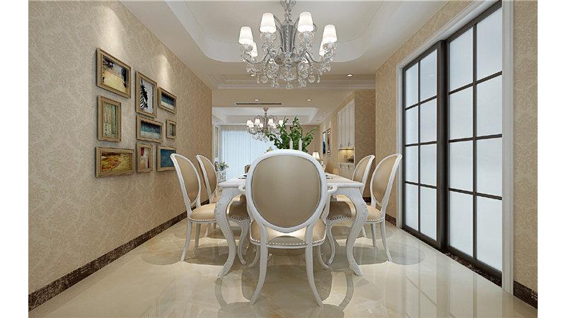 5-10万120平米欧式三居室装修效果图,云开甲地装修案例效果图-齐家图片