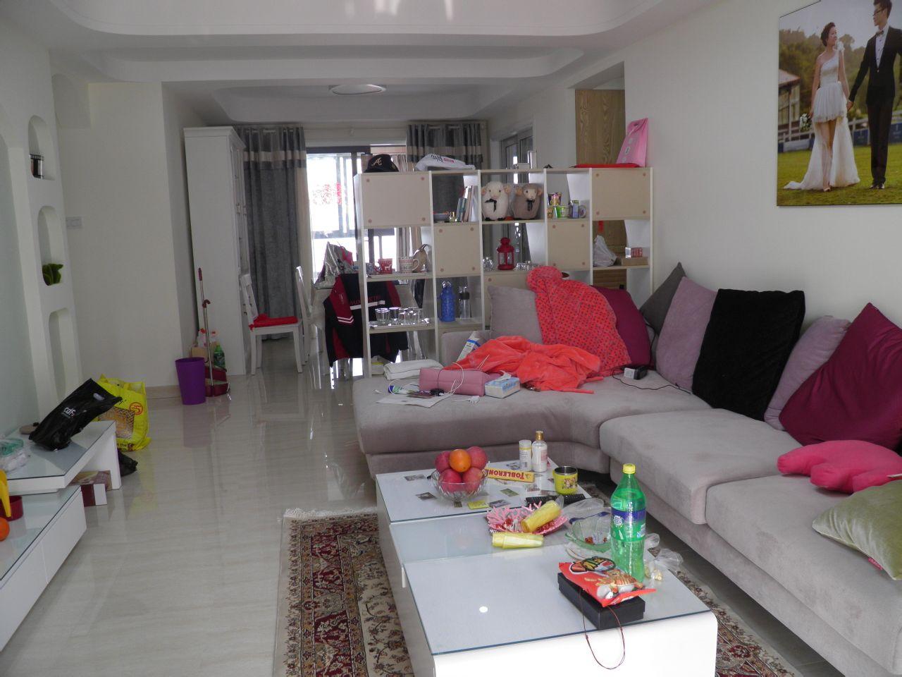 现代风格婚房两室两厅客厅装修效果图 高清图片