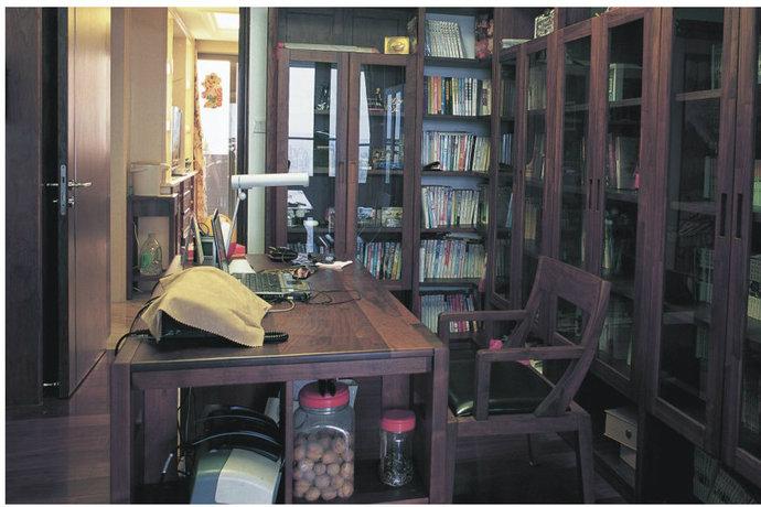 250平中式风格别墅书房装修效果图_设计案例_太平洋家居网高清图库图片