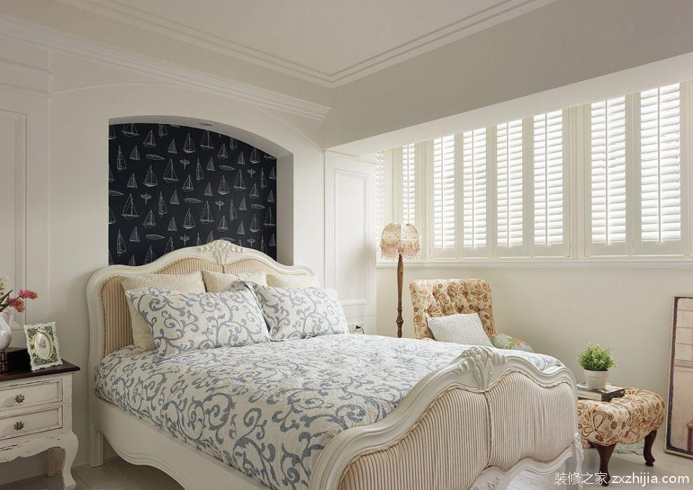 2016舒适雅致美式风格卧室装修图_装修之家装修效果图图片