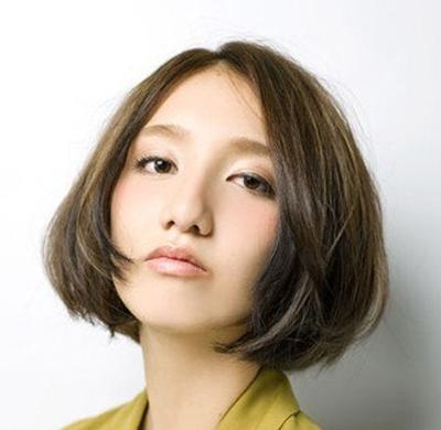 日系短发波波头瘦脸修颜 2014年短发最新发型 (400x390)图片