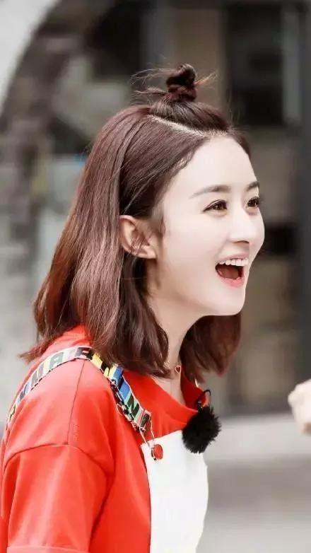赵丽颖终于换发型了短发后超级清爽可爱!图片