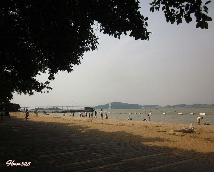 广州唯一的滨海 沙滩   广州南沙天后宫   广州南沙天后宫沙高清图片