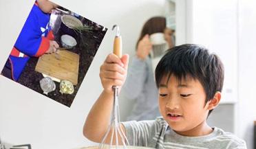 厉害了!3岁男孩做饭种花样样拿手