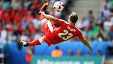 欧洲杯1/8决赛五佳球 沙奇里超远绝世倒钩领衔
