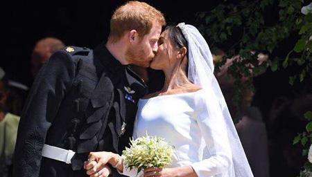 哈里王子与梅根高甜完婚