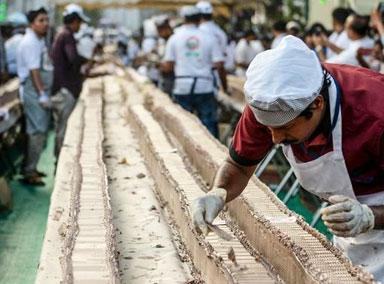 6.5公里长!印度做出全球最长蛋糕