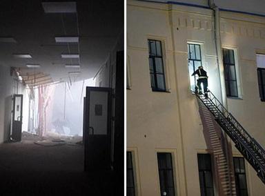 俄罗斯一大学建筑楼层坍塌