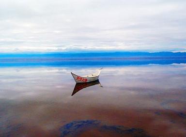 实拍茶卡盐湖