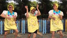 邓超扮巨婴跳逗比惊鸿舞 为小花庆1岁生日