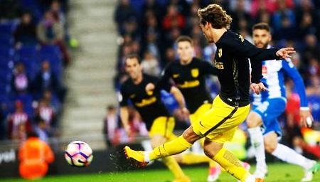 西甲-格子进球破百 马竞客场1-0胜西班牙人