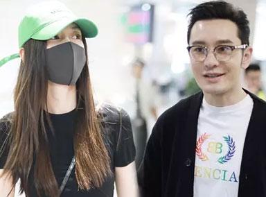 黄晓明夫妇前后脚现身  被问对方竟不知道?