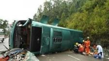 成都开往广西大客车侧翻致2死36伤