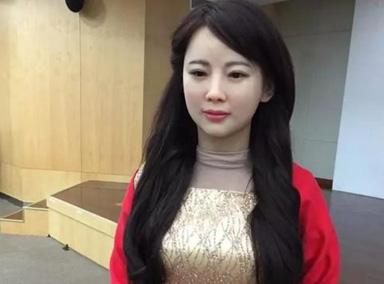 中国第一台美女机器人问世
