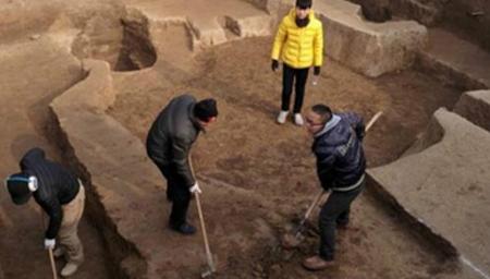 商鞅变法地秦都栎阳考古发现罕见地下室及壁灶
