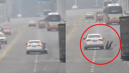 司机疯狂拖行交警500多米
