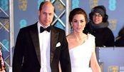 气质超赞!凯特王妃和威廉王子现身红毯!白色斜肩长裙尽显优雅!