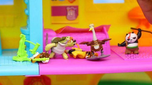 功夫熊猫3 奇趣蛋 拆蛋 平先生 师傅 功夫玩具试玩